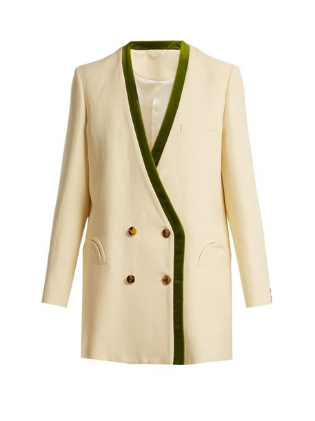 Blazé Milano - Savannah Sunset Silk And Linen Blend Blazer - Womens - Cream Multi