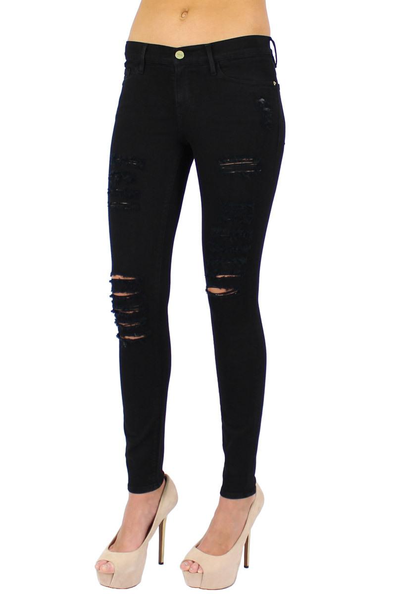 Frame Denim Le Color Ripped Skinny Jean