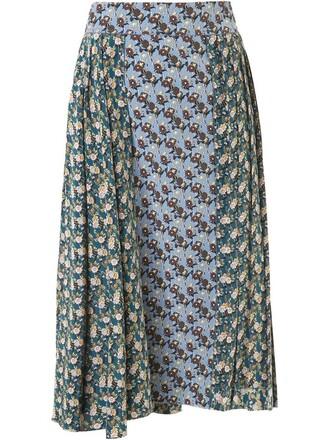skirt pleated skirt pleated floral print