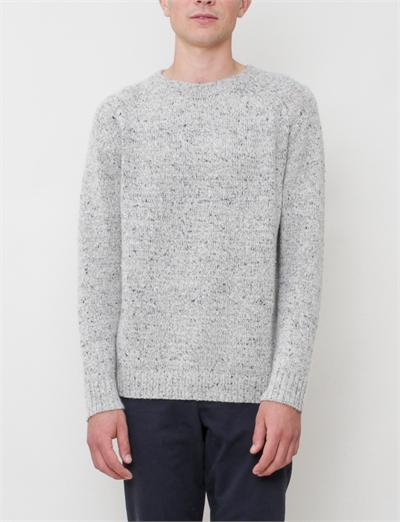Creatures of Comfort Ryan Pullover- Grey Tweed