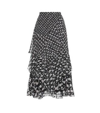 skirt midi skirt midi silk black