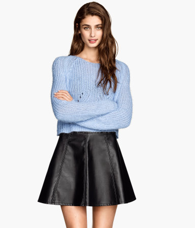 H&m imitation leather skirt $24.95