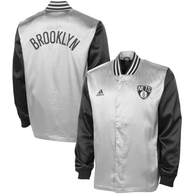 Mens brooklyn nets adidas gray second half on