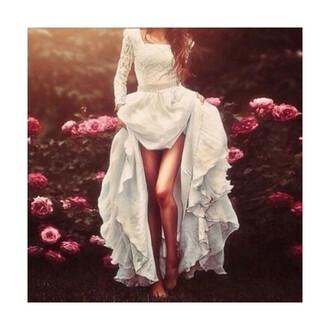 dress princess dress white dress high low dress vokuhila dress vokuhila princess prom dress wedding dress dredd