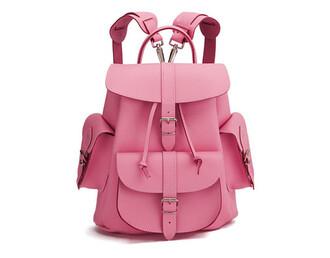 bag backpack pink pink leather backpack pink bag