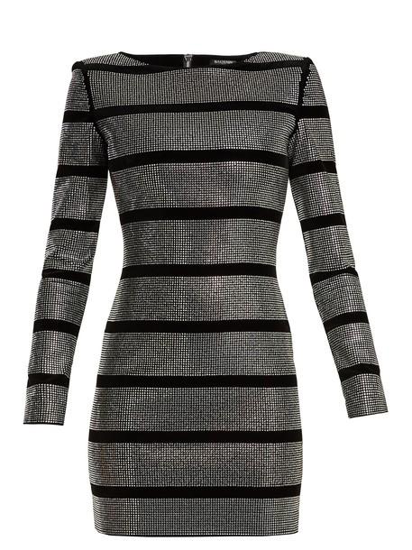 Balmain dress mini dress mini embellished silver black