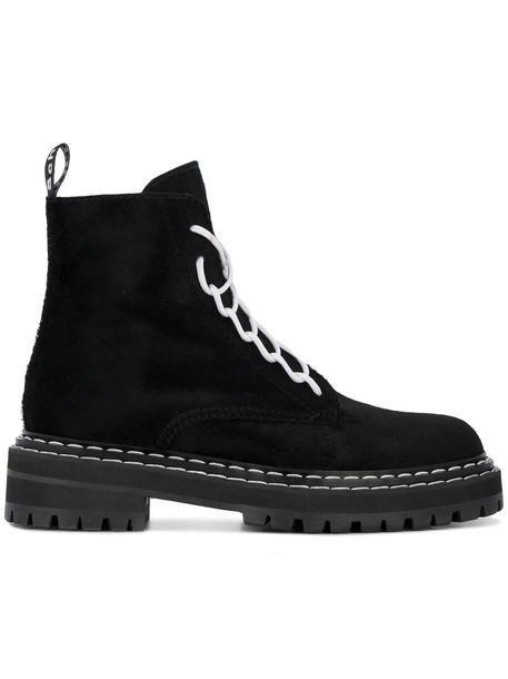 Proenza Schouler boot hair women lace black shoes