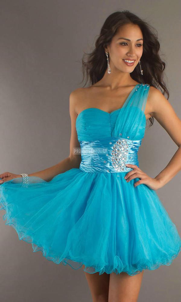 prom dress fashion dress short dress blue dress beading sexy dress girl women
