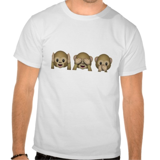 Hear No Evil, See No Evil, Speak No Evil Monkeys Tshirts from Zazzle.com
