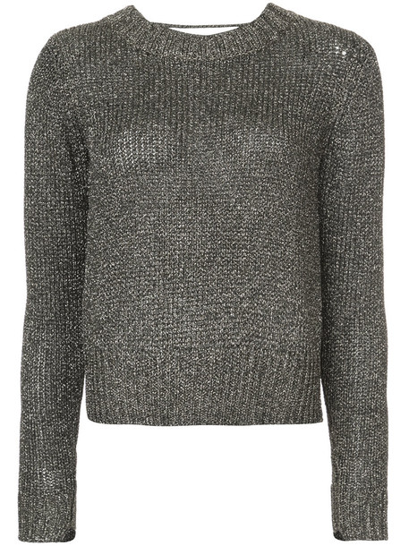 jumper metallic women grey sweater