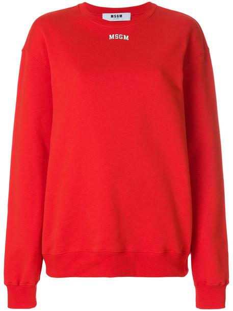 MSGM sweatshirt women cotton red sweater