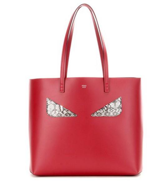 Fendi leather red bag