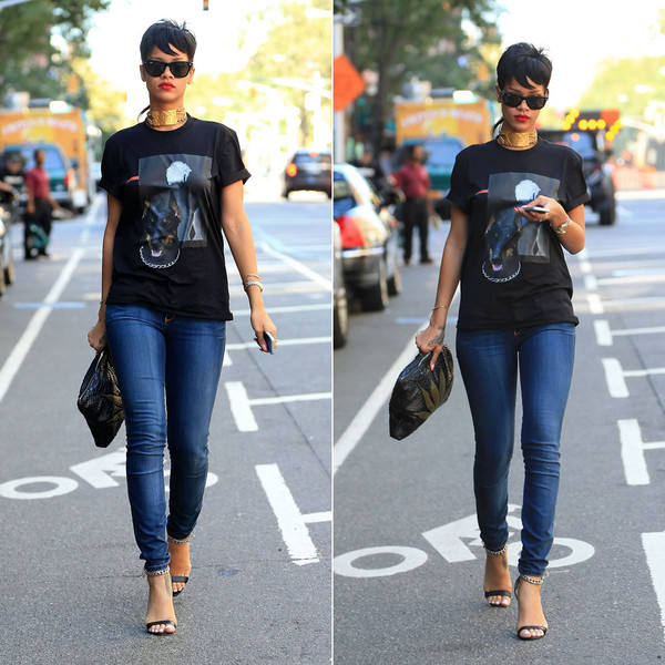 shirt rihanna t-shirt jeans