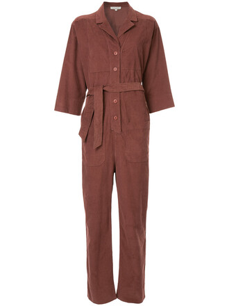 jumpsuit women cotton red