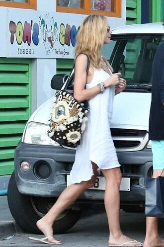 summer outfits heidi klum bag white dress
