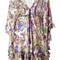Roberto cavalli floral print v-neck dress, women's, size: 44, silk