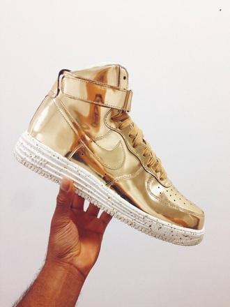 air force metallic shoes gold nike