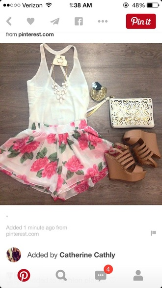 shorts flowered shorts summer shorts fashion outfit