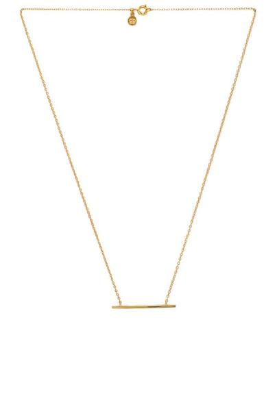 gorjana necklace metallic gold