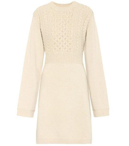 Chloe dress wool beige
