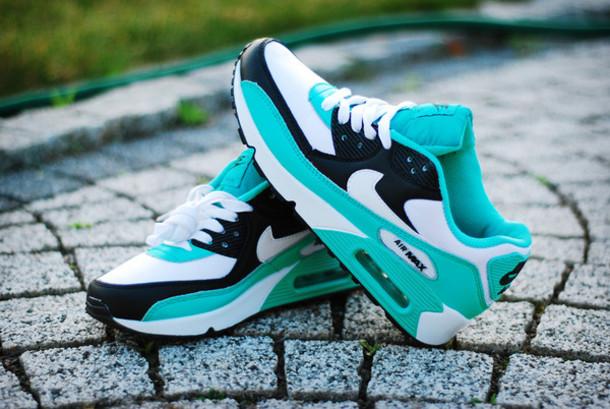 d0f9a564d5 shoes air max aqua blue nike running shoes trainers nike nike air nike air  max 90