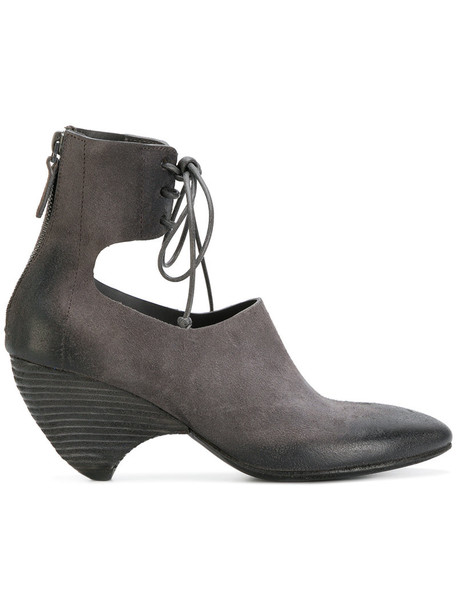 Marsèll women ankle boots leather suede grey shoes
