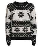 Dana Snowflake Knitted Christmas Jumper in Black | Pilot