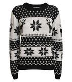 Dana Snowflake Knitted Christmas Jumper in Black | Pilot