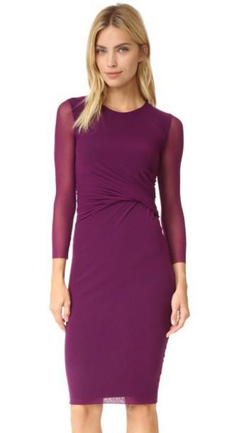 Fuzzi 3/4 Sleeve Dress - Purple