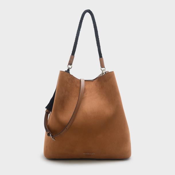 tassel bag shoulder bag camel