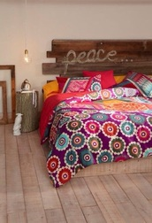 bedding,home accessory,home decor,hipster,boho,colorful,bedroom,hippie,peace