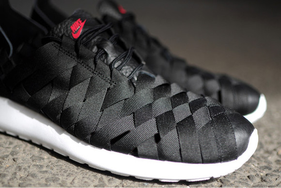 black shoes shoes nike roshe run woven prm woven shoes nike roshe run woven prm trainers black nike roshe run woven nike roshe run black bikini black shoes, leather woven top wmns mens shoes