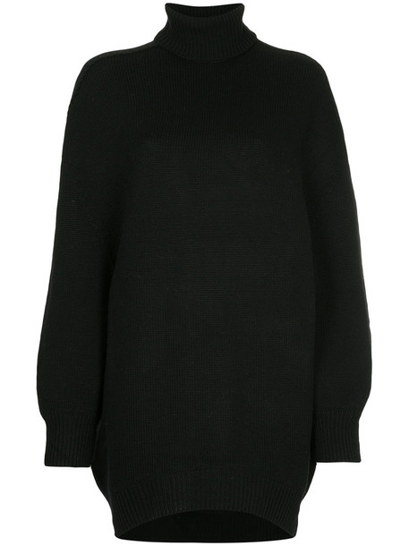 Astraet jumper turtleneck women black wool sweater