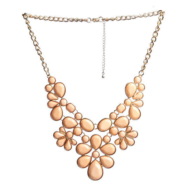 Statement Faceted Necklace - Polyvore