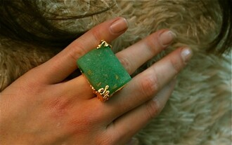 jewels green ring