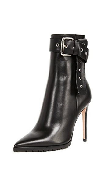 Monse booties leather black shoes