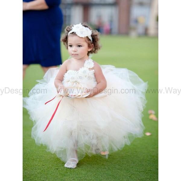 flower girl dress toddler tutu dress dress white dress
