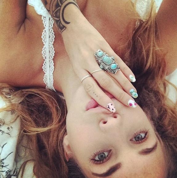 boho hippie vintage gypsy jewels ring