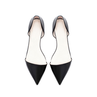 zara shoes black leather flats pointedflatshoes pointedflats pointed toe