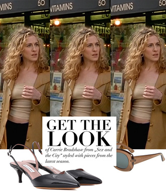 teetharejade blogger jacket top jewels shoes dress make-up bag sunglasses coat carrie bradshaw sex and the city sarah jessica parker