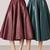 Cherry Leather Midi Skirt by Bally | Moda Operandi