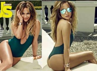 swimwear jennifer lopez editorial one piece swimsuit plunge v neck summer