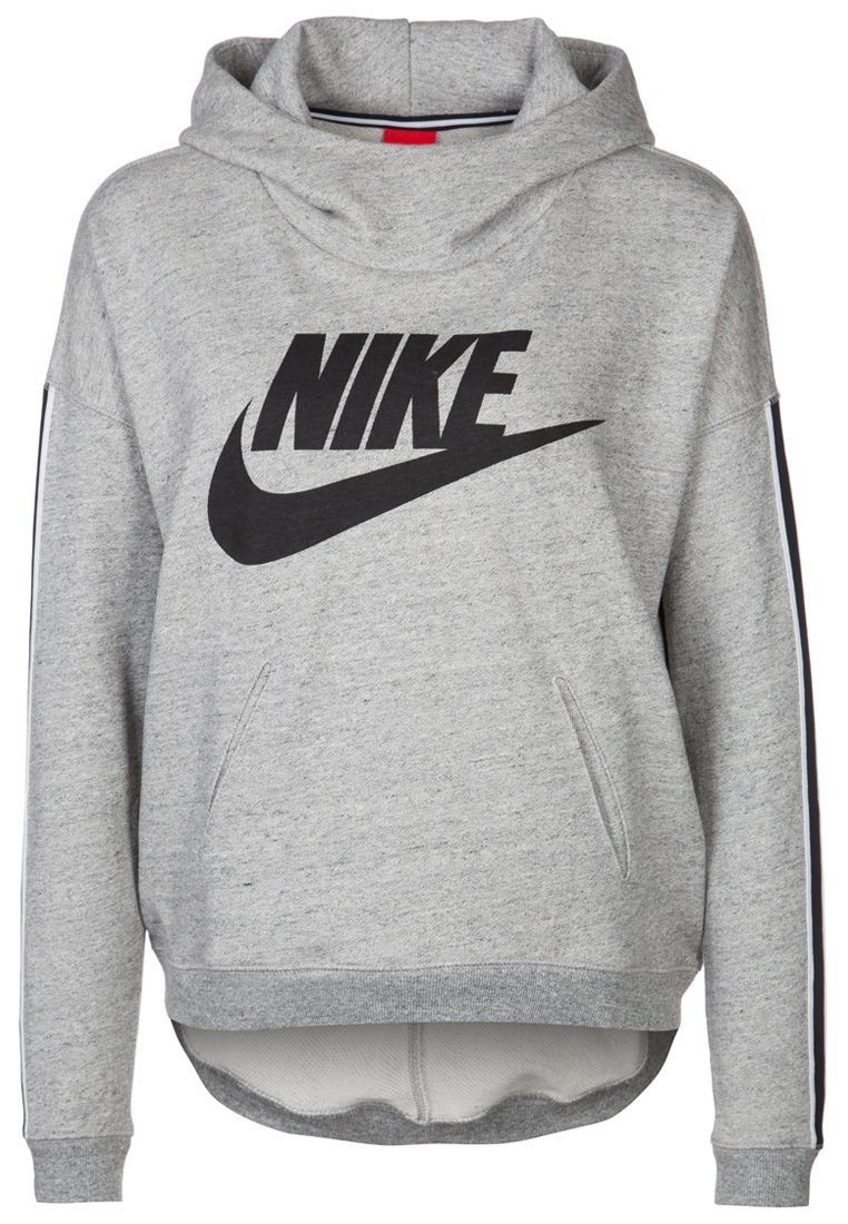nike sportswear district 72 kapuzenpullover dark grey heather black. Black Bedroom Furniture Sets. Home Design Ideas