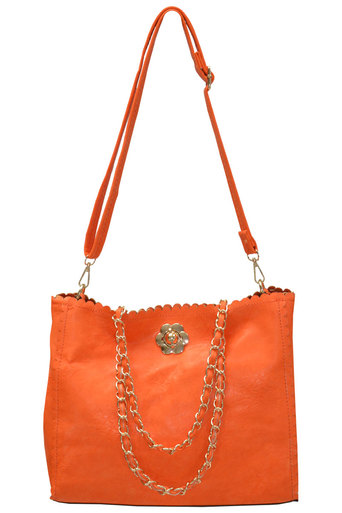 Womens Jeannie Oversized Scallop Edge Bag | Pop Couture