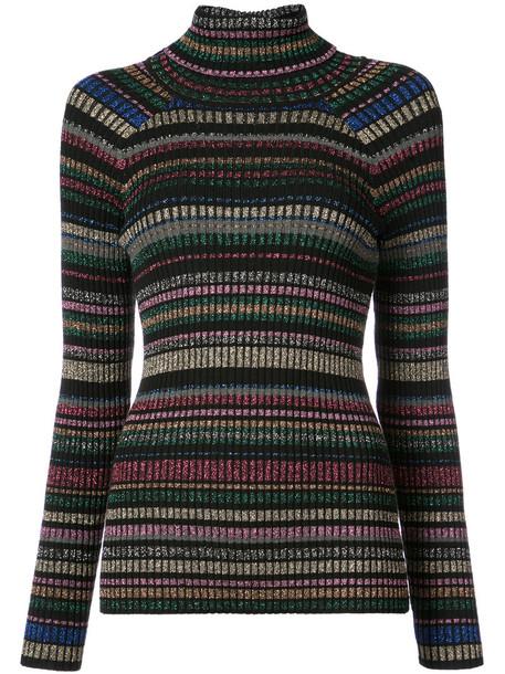 MILLY sweater striped sweater glitter rainbow women