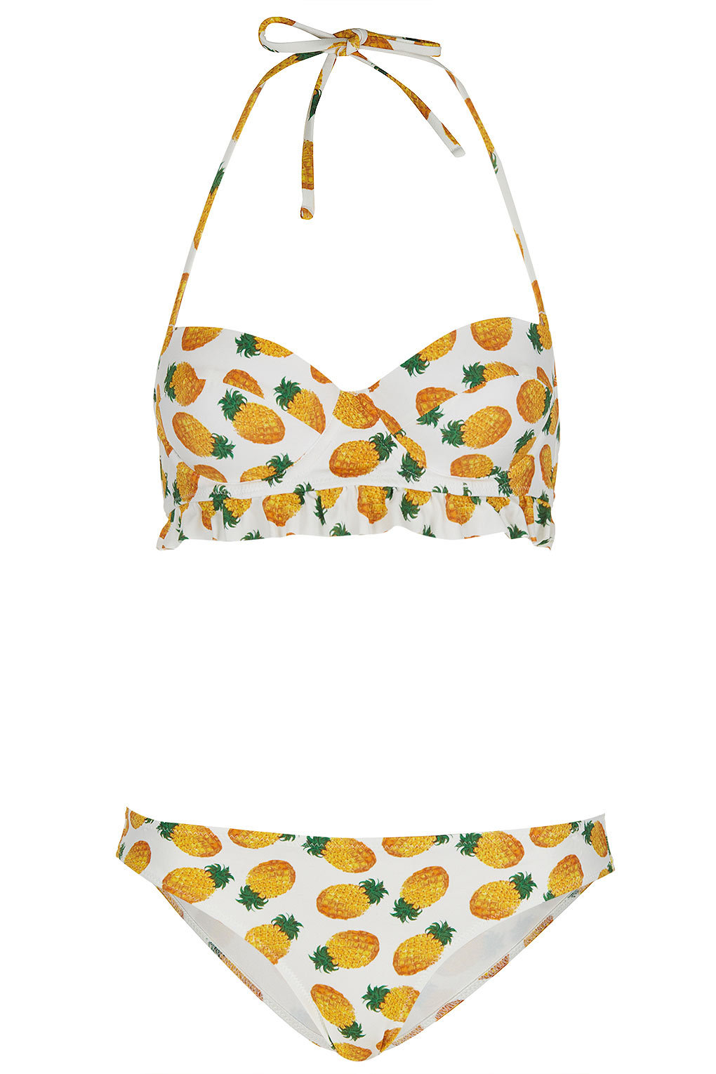 White Pineapple Bikini - Topshop on Wanelo