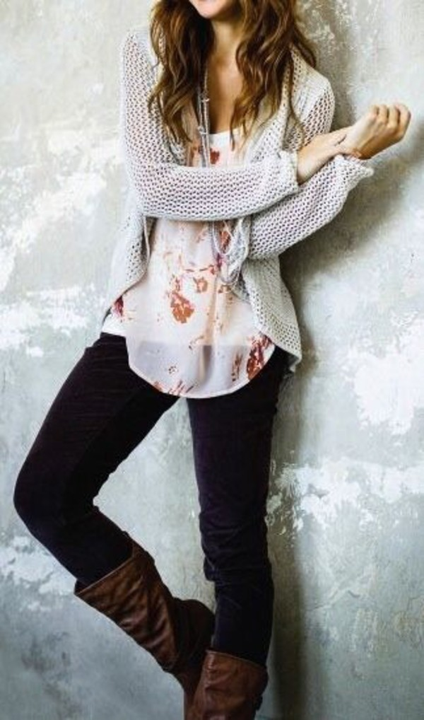 blouse sweater jeans