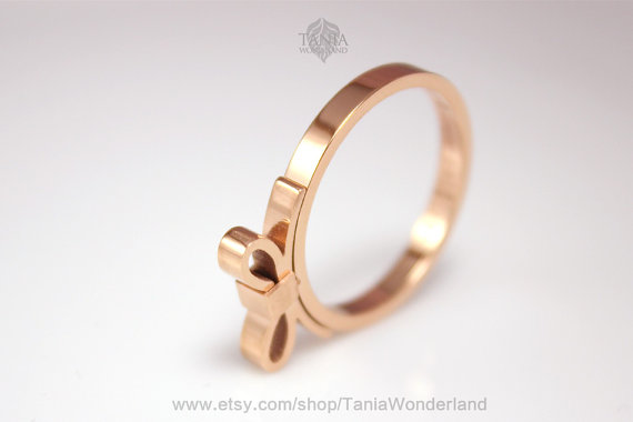 bow ringCute Ring Bow Ring Rose Gold by TaniaWonderland