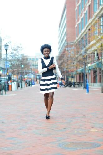 skinny hipster blogger shoes striped skirt black and white