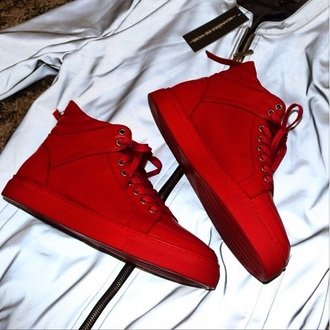 shoes red trainers red shoes